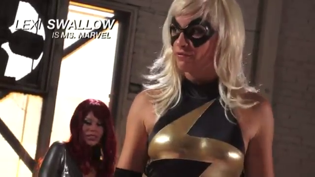 Lexi Swallow As Marvel In Avengers Pornparody